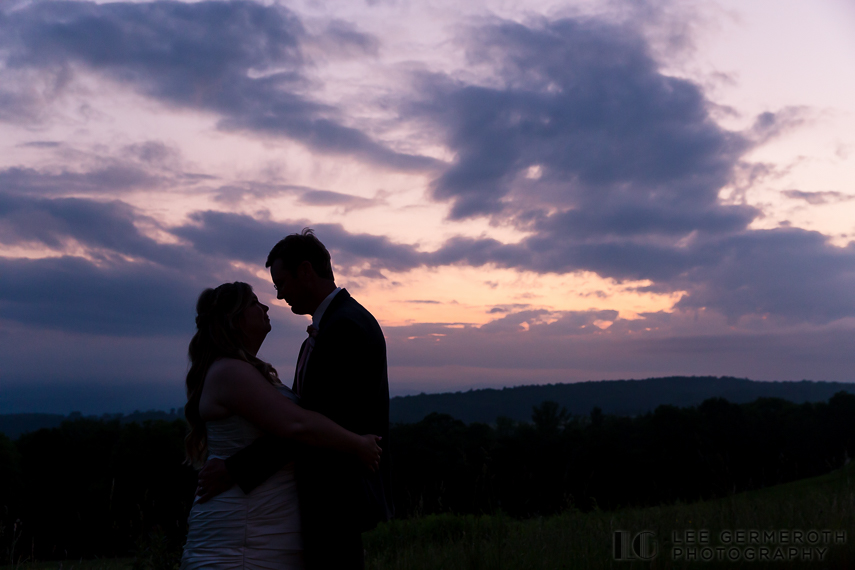 Sunset Shiliouette - Walpole New Hampshire Wedding by Lee Germeroth Photography