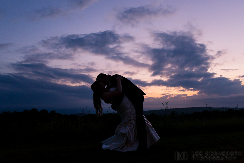Sunset Silhouette - Walpole New Hampshire Wedding by Lee Germeroth Photography