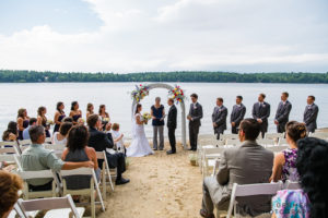 Ceremony - Woodbound Inn Rindge Wedding by Lee Germeroth Photography